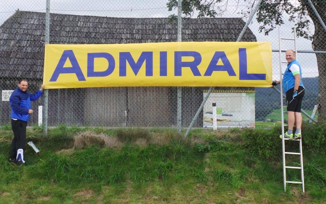 Neuer Sponsor: Admiral