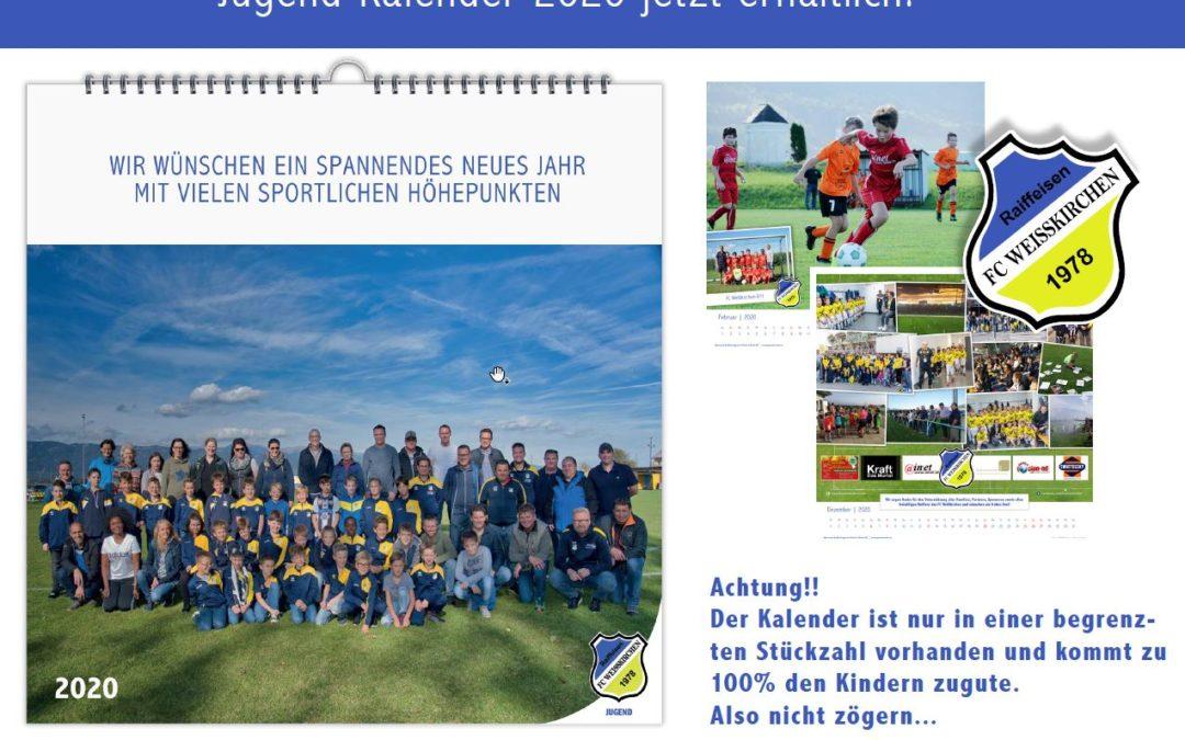 """Druckfrisch … der neue """"FC Weißkirchen Jugend Kalender 2020 ist da !!!!"""