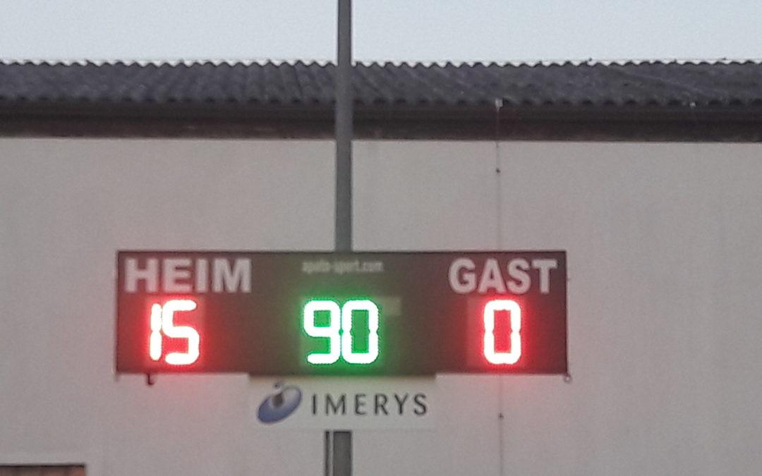 15:0 Heimsieg gegen FC Judenburg II