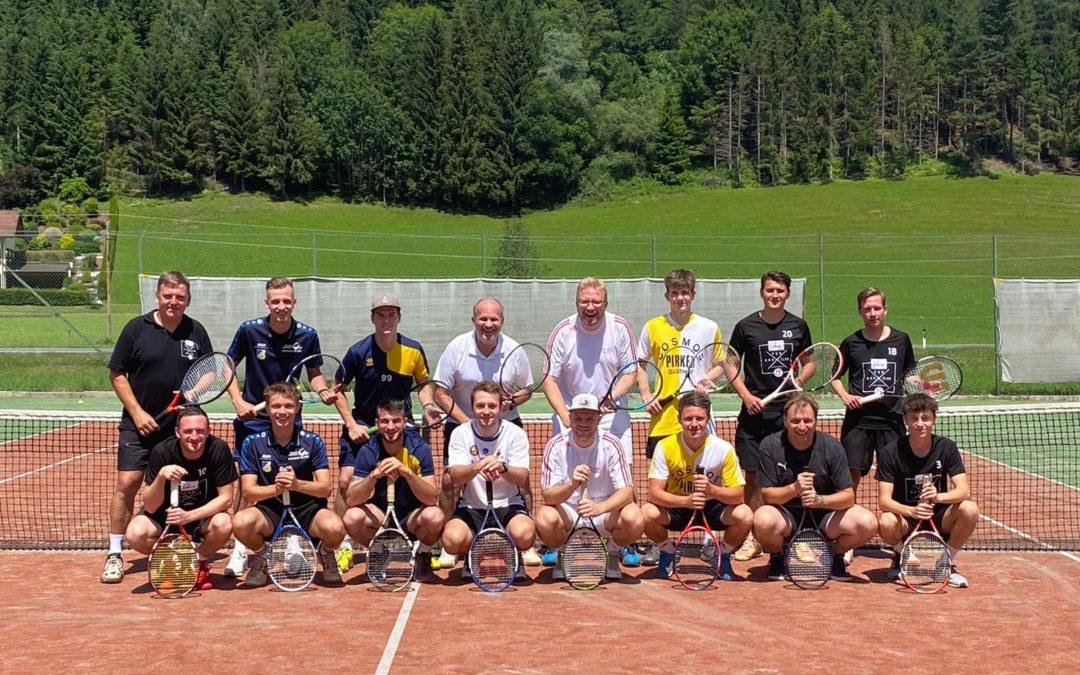 1. Tennisdoppelturnier des FC Weißkirchen erfolgreich absolviert …