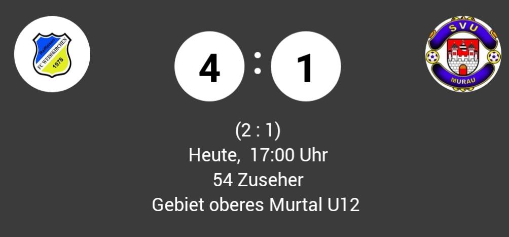 Heimsieg für unsere U12 gegen Murau …
