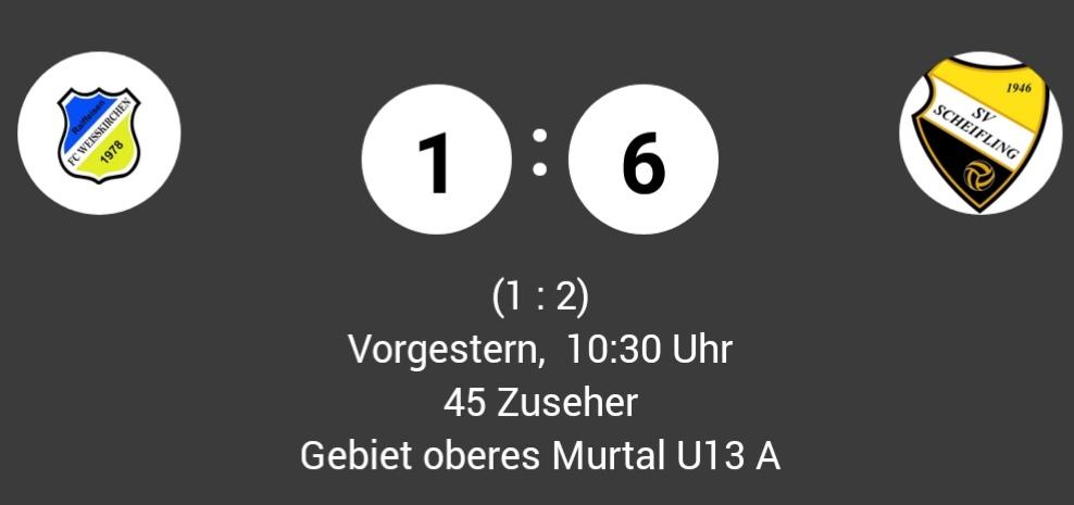 Auftaktniederlage für unsere U13 gegen die SG Scheifling / St.Lorenzen