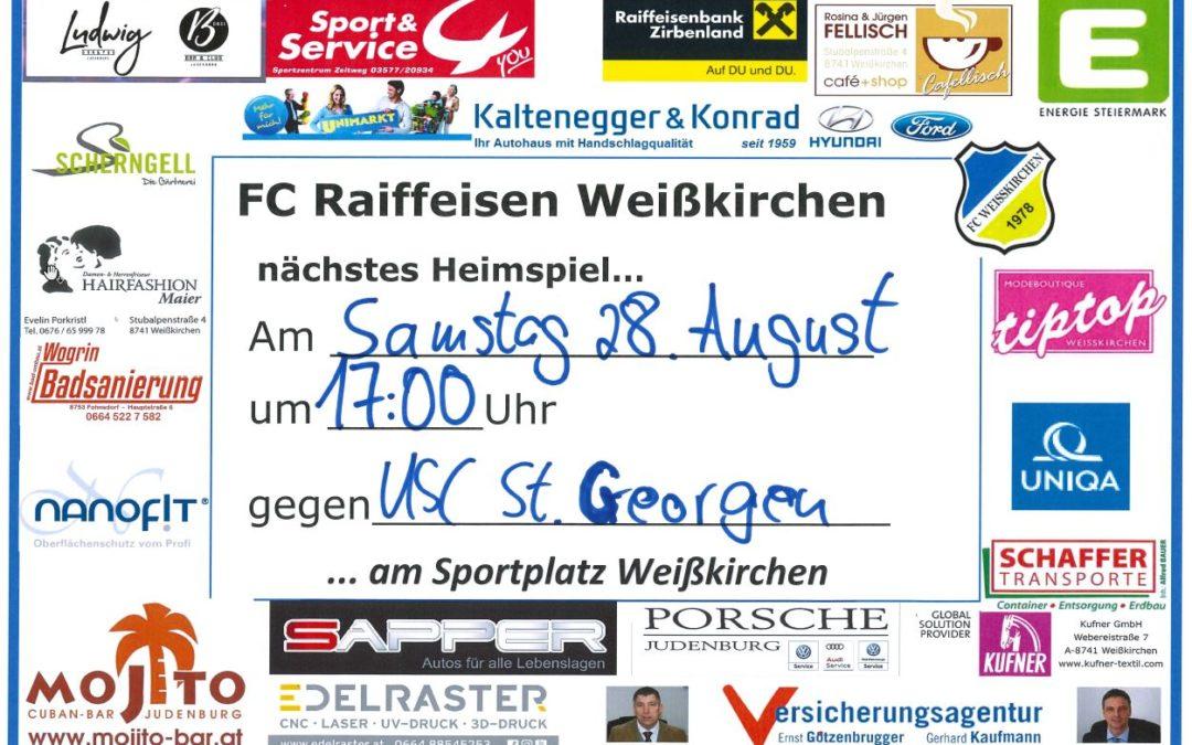 Heimspiel … 28.08.21 vs. USC St.Georgen !