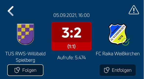 Bittere Niederlage beim TUS RWS-Willibald Spielberg für unsere Kampfmannschaft !